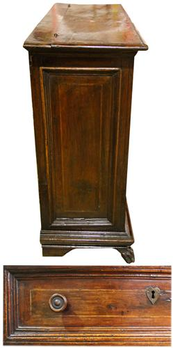 A 17th Century Tuscan Walnut Commodino No. 4277
