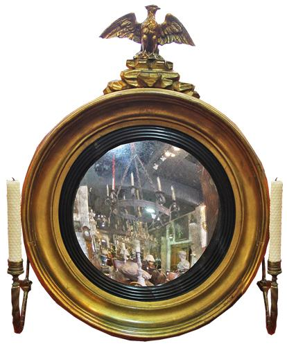 A 19th Century English Regency Convex Mirror No. 4293