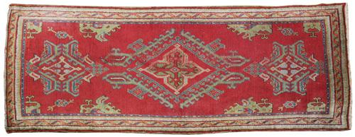 A 19th Century Turkish Oushak Wool Rug No. 4335