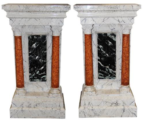 An 18th Century Pair of Rare Italian Pedestals No. 4342