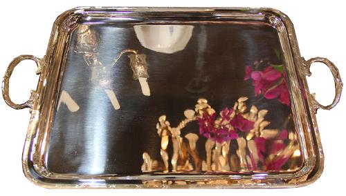 A 19th Century English Silver-Plated Tray No. 4375