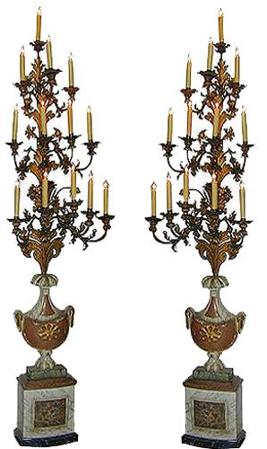 A Pair of 18th Century Italian Tole Torchères No. 1710