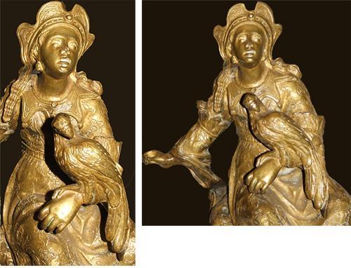 A Pair of Louis XV Ormolu Chenets 2476