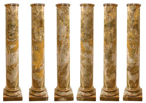 A Rare Set of Six 18th Century Italian Doric Columns No. 2431