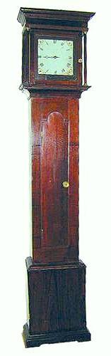 An Early 18th Century Queen Anne Oak Long Case Clock No. 590