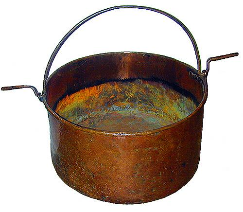 A Generously Proportioned 18th Century French Copper Cauldron No. 2274