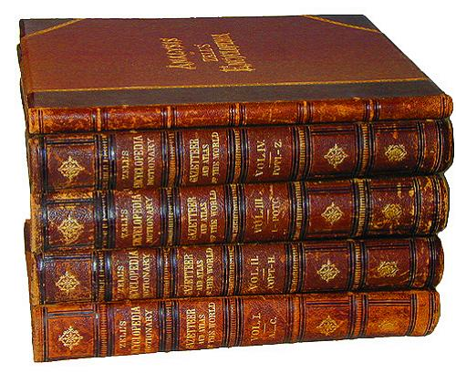 A Complete 19th Century Leather Bound Set of Zell's Encyclopedia No. 2256