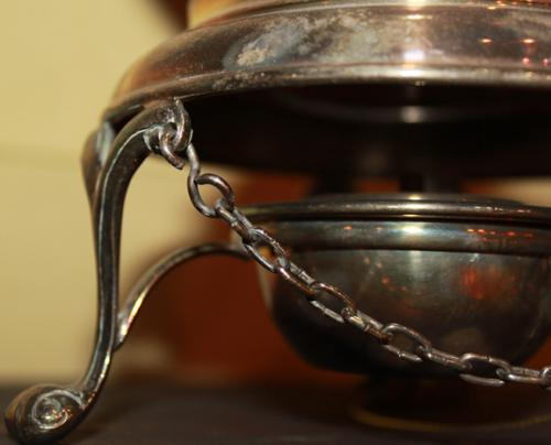 A Diminutive 19th Century Silvered Tea Pot No. 2513