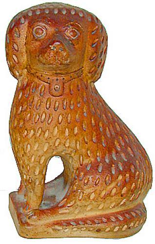 A 19th Century Terra Cotta Dog No. 2100