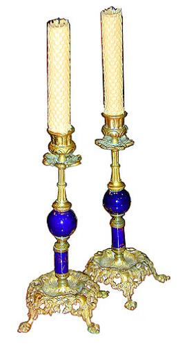 A Pair of 19th Century French Candlesticks No. 2076