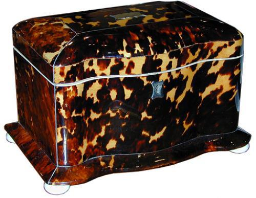 A 19th Century English Tortoiseshell Tea Caddy No. 2061