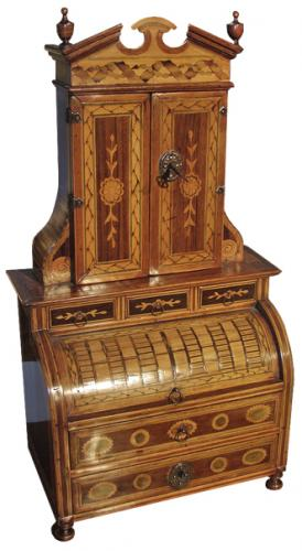 A Rare 18th Century Italian Miniature Mechanique Secretaire No. 2001