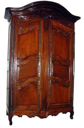 A Majestic 18th Century French Provincial Rococo Armoire No. 2313