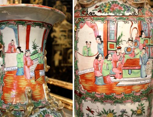 A 19th Century Famille Rose Porcelain Vase No. 560