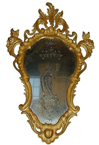 An 18th Century Venetian Giltwood Mirror No. 1921