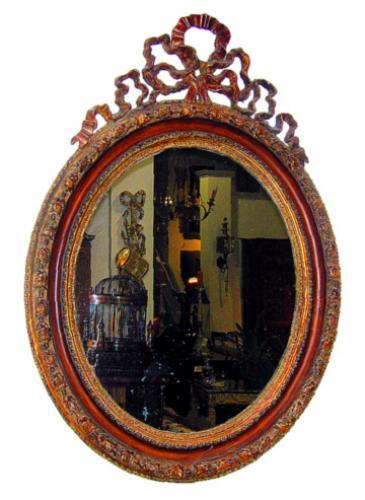 A 19th Century Italian Oval Giltwood Mirror No. 1138