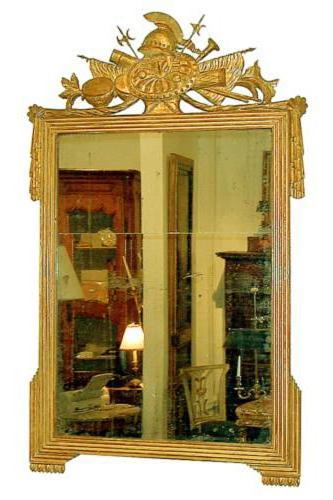 A Fine 18th Century French Louis XVI Giltwood Trophy Mirror No. 994