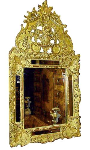 A Diminutive 18th Century French Régence Giltwood Mirror No. 144