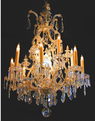 A 19th Century Italian Cut Crystal Chandelier No. 1691