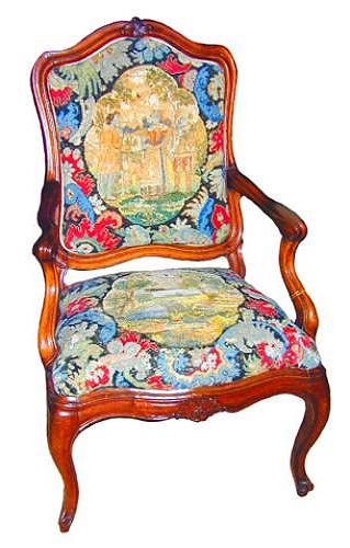 An 18th Century Italian Louis XV Style Walnut Armchair No. 1319