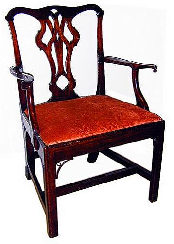 An 18th Century English George II Chippendale Walnut Armchair No. 627
