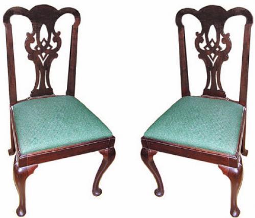 A Pair of 19th Century English Mahogany Side Chairs No. 472