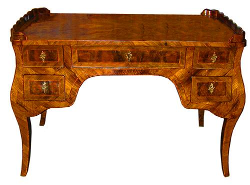 A Rare Milanese 18th Century Burled Walnut Writing Desk No. 2081
