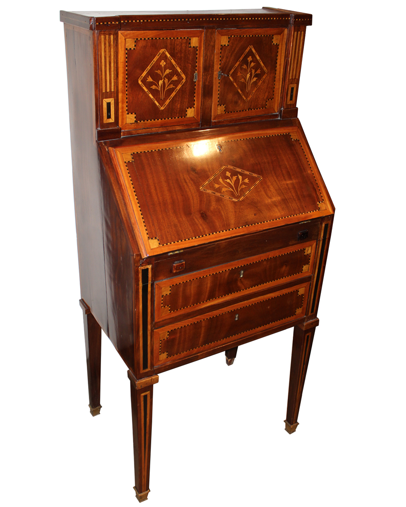 An 18th Century Dutch Marquetry Upright Slant-Front Desk No. 208