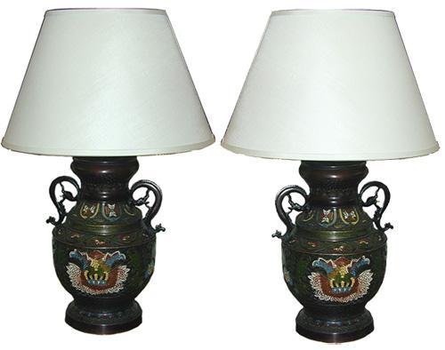 A Fine Pair of 19th Century Cloisonne Vases No. 1745