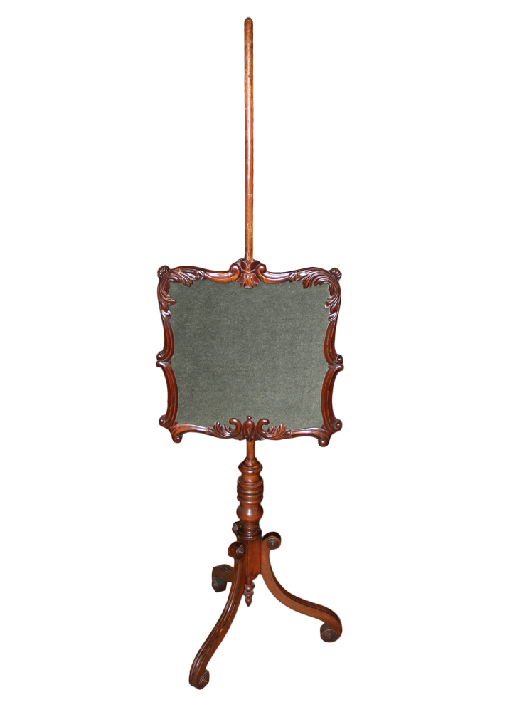 A 19th Century English Regency Mahogany Fire Screen No. 1062