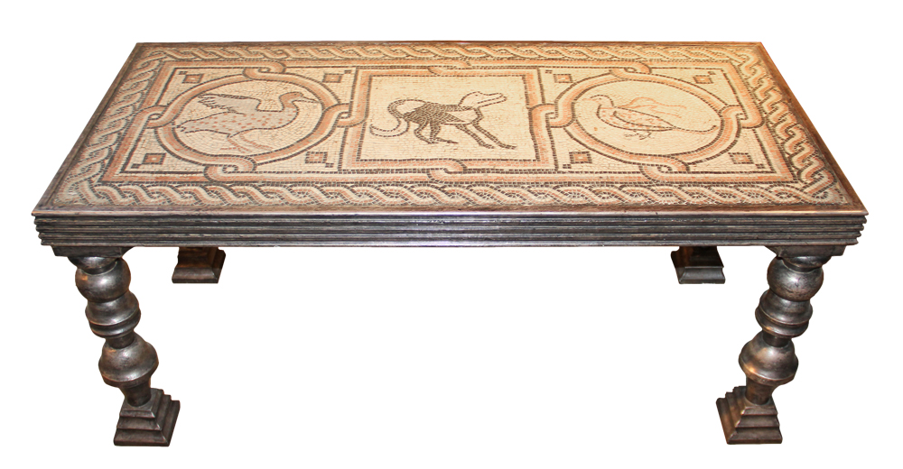 A 19th Century Italian Mosaic Panel Now A Coffee Table No. 1063