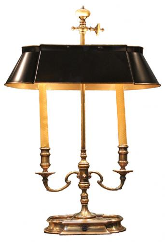 A Fine 19th Century Brass Bouillotte Lamp No. 908