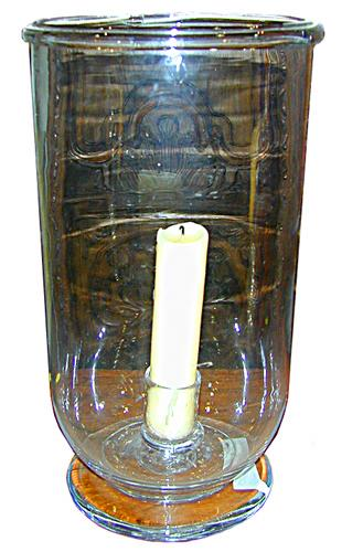 A Glass Hurricane Lamp No. 117