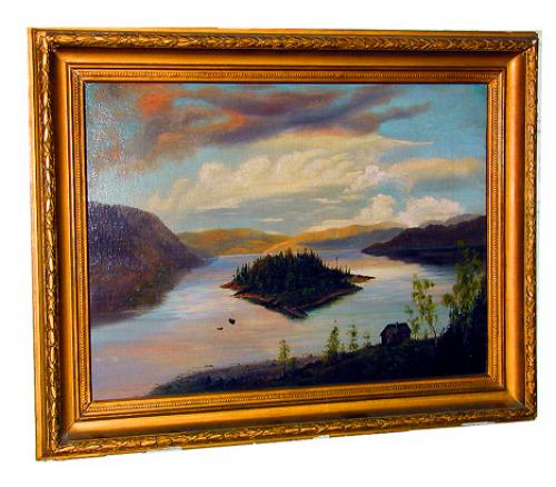 A 19th Century American Oil on Canvas No. 822