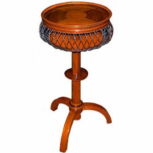 An Unusual and Whimsical 19th Century Charles X Walnut and Satinwood Parquetry Side Table No. 2488