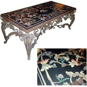 A 19th Century Italian Scagliola Black Slate Table Top No. 955