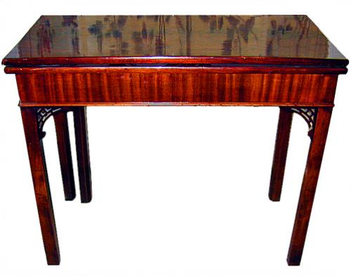A Fine 19th Century English Mahogany Folding Card Table No. 346
