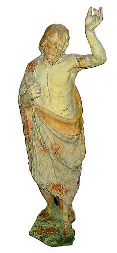 An 18th Century Italian Parcel-Polychrome Statue No. 1742