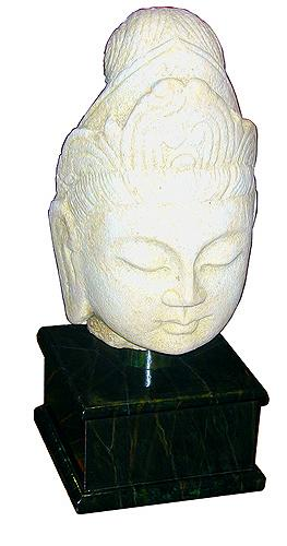 A 19th Century Carved Stone Head of Buddha No. 1583