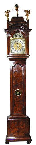 An 18th Century Dutch Mahogany Long Case Clock No. 1535
