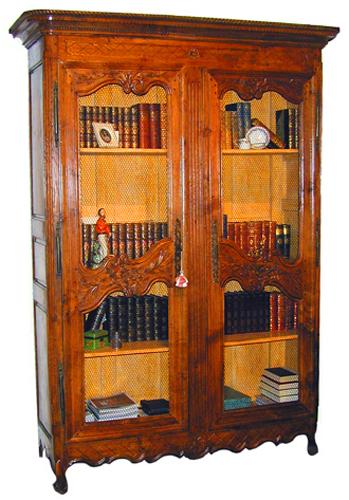 A Fine 18th Century French Louis XV Style Ash Wood Provincial Bibliothèque No. 1458