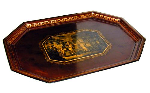 A Fine 19th Century English Tole Tray No. 1376