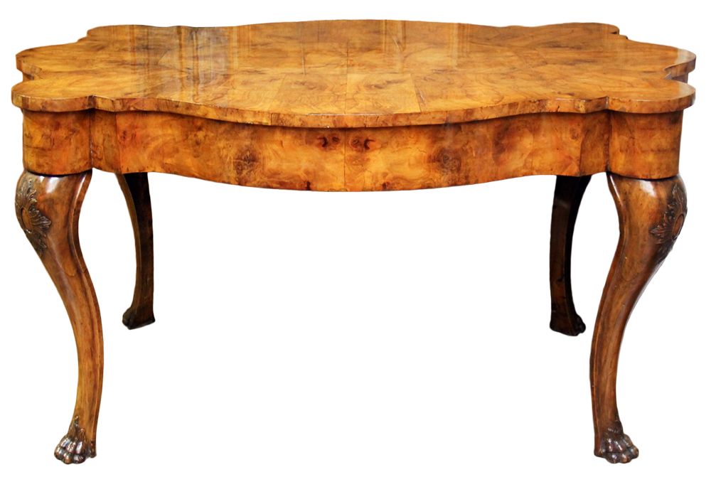 An Exquisite Venetian Olivewood Center Table No. 1576