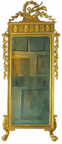 A Luccan Tuscany 18th Century Louis XVI Carved Giltwood Mirror No. 2782