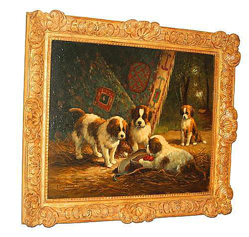 Louis Eugene Lambert's signed 1873 Oil on Panel No. 2783