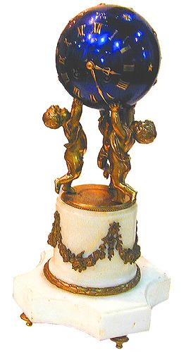 A Delightful 19th Century French Bronze Doré and Marble Mantel Clock No. 2292