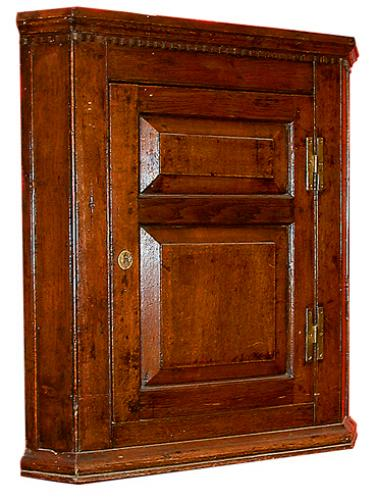 An 18th Century Mid-Georgian Oak Hanging Corner Cupboard No. 14