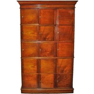A Fifteen Door 18th Century English Mahogany Apothecary Cabinet No. 2947