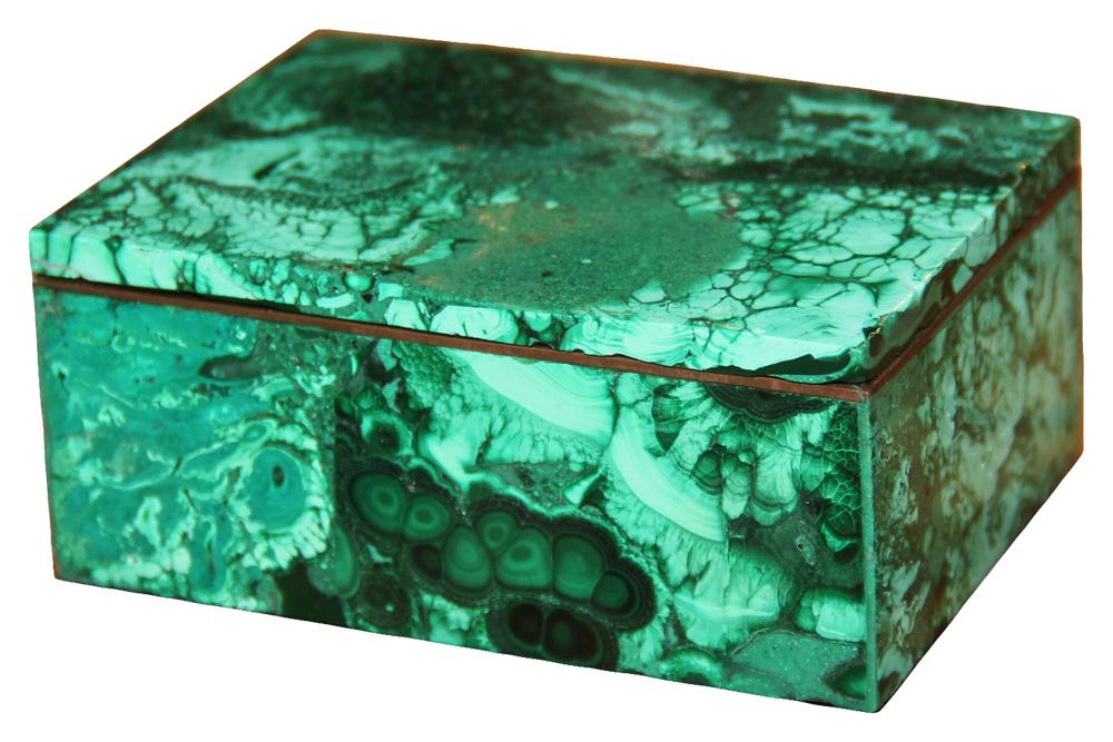 A Russian Malachite Box No. 1950