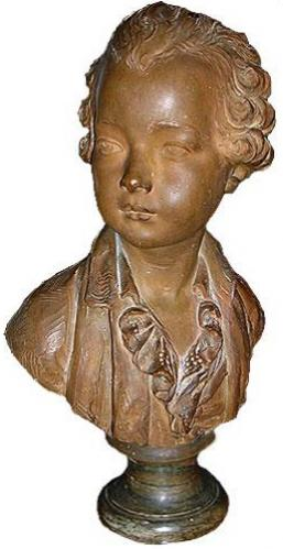 A 19th Century Terra Cotta Sculpture of an 18th Century Scion No. 2016